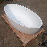 Rechteckige freistehende feste Oberflächensteinbadezimmer-Badewanne