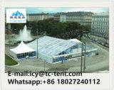 Vvipのライニングの装飾が付いている組合せ党テント25X60mの白PVCガラス屋根