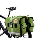 Sitzträger-Beutel-Doppeltespannier-Beutel-Armee-Grün des wasserbeständigen Fahrrad-45L hinteres