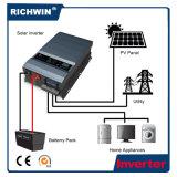 inverseur à la maison hybride pur d'énergie solaire d'onde sinusoïdale de l'écran LCD 4kw
