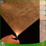 Tissu ignifuge imperméable à l'eau de rideau en polyester d'arrêt total tissé par textile à la maison