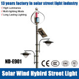 Luz de calle híbrida ahorro de energía del Solar-Viento del poder más elevado del jardín/del camino