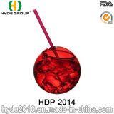 16oz BPA geben trinkendes Kugel-Plastikcup mit Stroh frei (HDP-2014)
