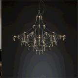 La lámpara cristalina del hierro de la personalidad de la dimensión de una variable creativa del árbol para adorna el restaurante