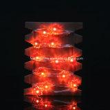 Forme de la feuille Chaîne alimentée par batterie Fil en argent Feuilles de fées Décoration de Noël Extérieur