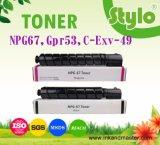 Toner van het kopieerapparaat Patroon c-Exv49 Npg67 Gpr53 voor Voor consumptie geschikte de Printer van de Canon