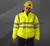 Segurança Winter High Visibility Custom Logo impermeável jaqueta de bombas