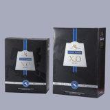 Boîte-cadeau de papier à extrémité élevé fabriquée à la main d'emballage de boîte à vin d'usine