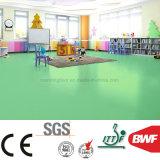 suelo suave no tóxico del vinilo del color sólido de 3m m para el jardín de la infancia