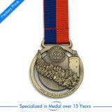Antike Messingandenken-Medaille mit Abzuglinie