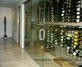 Стена нержавеющей стали конструкции погреба установила шкаф хранения вина индикации бутылки