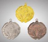 ワシの形の装飾を持つブリッジクラブのための銀メダル