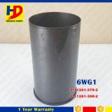 Forro do cilindro da qualidade superior 6wg1 para as partes da máquina escavadora de Isuzu (1-11261-379-2 1-11261-380-2)