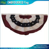 Fence Hanging 210d Oxford Polyester American Embroidered Star USA Flags (J-NF16P18002)