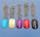 Collana di alluminio a buon mercato anodizzata della modifica di cane di colori Mixed