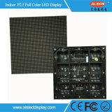 Painel de indicador interno do diodo emissor de luz da cor cheia P2.5 do canal de televisão HD