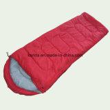 La couleur solide enveloppent le sac de couchage avec le remplissage de chapeau