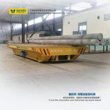 Платформа переноса трубы пользы сталелитейного завода на изогнутых рельсах