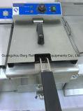 De commerciële Elektrische Braadpan van het Roestvrij staal (2 - Tank & 2 - Mand)