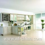Gabinete de cozinha resistente da madeira contínua da cereja da água