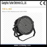DMX512 LED Éclairage de scène 72pcsx3w RGBW imperméable LED PAR Light
