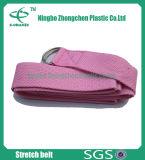 Ecoの友好的な耐久の綿のヨガベルトの調節可能な綿のヨガベルト