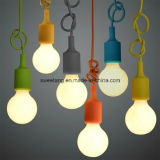 Lámpara pendiente del PVC de la luz simple de la lámpara para el sitio de la base de los cabritos