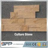 Pierre de culture de saillie empilée par forme de Z pour le panneau de placage et de mur d'ardoise