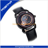 Relógio Multifuncional De Sapphire De Vidro De Pérola Elegance Ladies Leather Band Watch