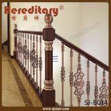 鋳造アルミステアケース(SJ-B025)のための装飾的な階段Baluster及び手すり