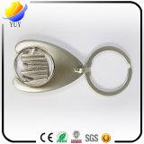 Corrente chave da liga especial de alta qualidade do zinco do metal da moeda da forma com chapeamento da pérola