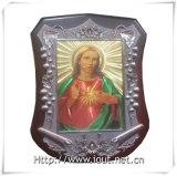 Illustration de marqueterie : Notre Madame de Fatima, photo religieuse (IO-ca091)