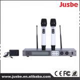 Microfone do canto do karaoke do sistema sem fio da maneira da freqüência ultraelevada 2