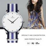 Schmucksachen der Frauen überwachen Nylonband-Luxuxmarken-Armbanduhr-Geschenk 71142