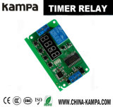 DC 12V Multifuncional Auto-bloqueio Relé PLC Cycle Timer Module Delay Time Switch