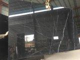 Китайские слябы Nero Marquina черные мраморный для Countertops мозаик плакирования стены плиток настила
