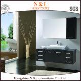 Gabinete de baño sólido de madera de roble sólido estilo americano de N & L