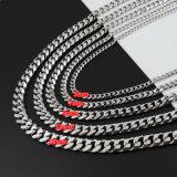 Modieus Europees en Amerikaans Staal Zes van het Titanium - De Halsband van het Vlakslijpen (SSNL2630)