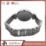 Reloj de señoras redondo de la mano del cuarzo del acero inoxidable de la dimensión de una variable de la dial
