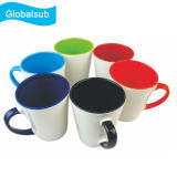 Caneca cerâmica 12oz de Latte do Sublimation interno da cor