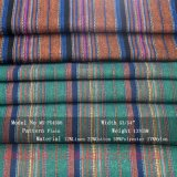 El hilado de lino del algodón del poliester del rayón teñió la tela para la falda de la alineada