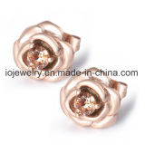 Flower Metal Medical Boucles d'oreilles en acier inoxydable