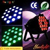 Colore completo caldo 6 di vendita DMX512 in 1 indicatore luminoso di PARITÀ di 18X10W LED