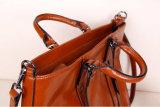 Nuevo diseño de la cera del aceite de piel de señora Handbag simple Ol Estilo
