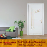 Porta a battenti di legno della melammina bianca moderna 2017 (GSP12-023)
