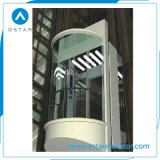 8人をロードする630kgの屋内ガラスエレベーターの観察の上昇