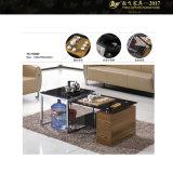 Table basse bon marché en verre et en métal avec les tiroirs (YF-170066T)