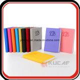 Caderno do diário da agenda do couro do negócio da folha solta com fechamento da curvatura