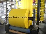 Tela tecida PP tubular transparente no rolo