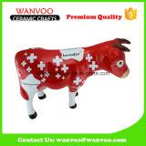 Vaca niños porcelana del regalo de la Estatua de la caja del ahorro